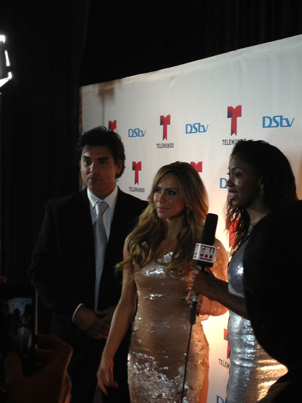 Aylin and Jorge were first on the red carpet.