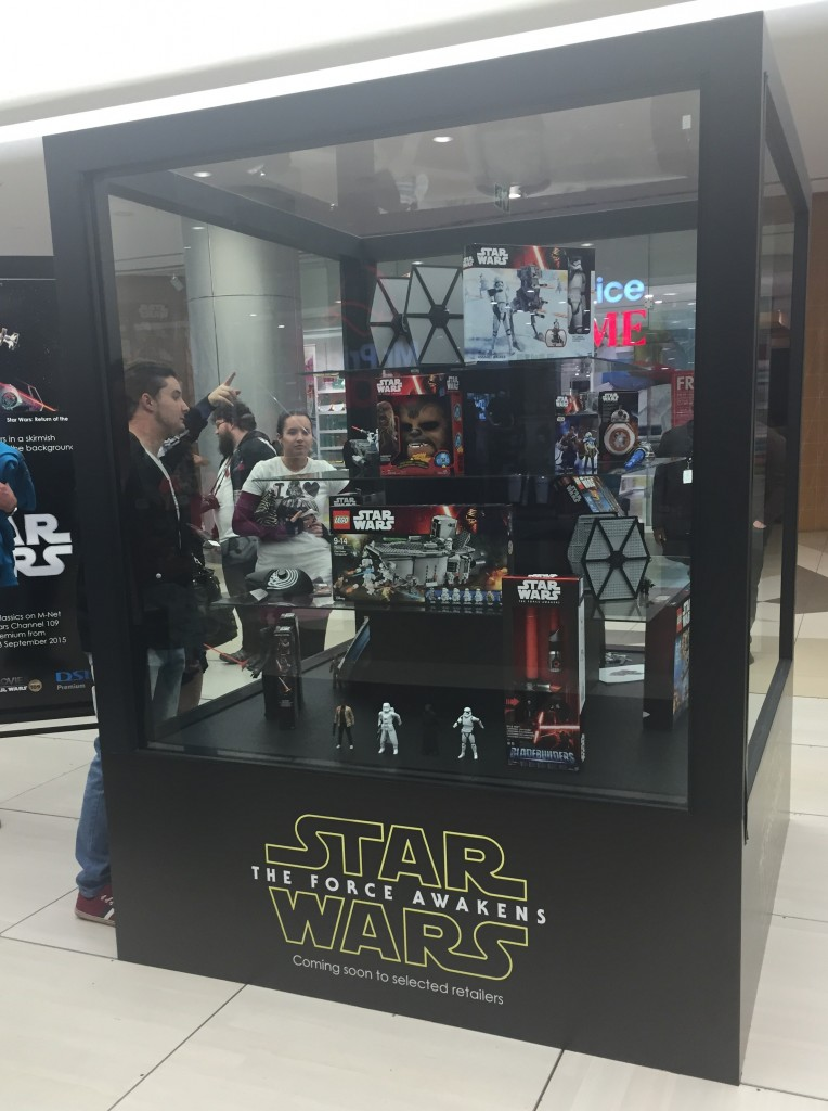 Unveiling of Star Wars: The Force Awakens product at Sandton City South Africa.