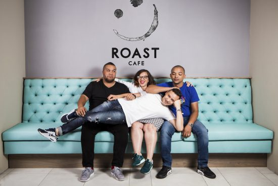 23 October 2015 Comedy team, Goliath and Goliath, launch Goliath & Goliath Comedy Club together with The Roast Cafe in Melrose Arch, Johannesburg. PICTURE LAUREN MULLIGAN