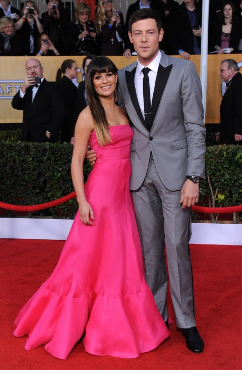 Lea Michele and Cory Monteith at the 2013 SAG Awards