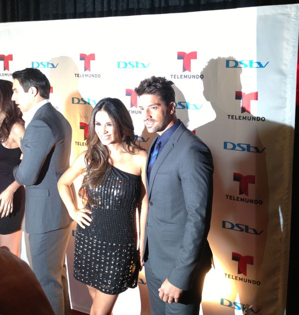 Catherine Siachoque and David Chocarro smiled for the cameras
