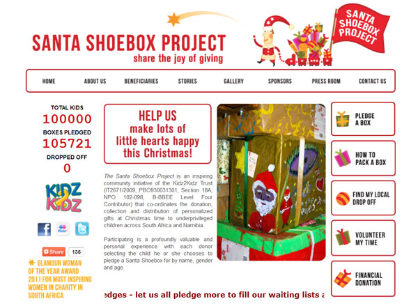 Santa Shoe Project Homepage