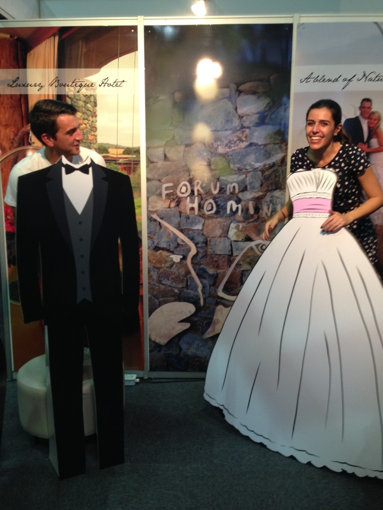Messing around at one of the Wedding Expo stands