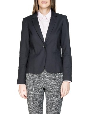 Women's black blazer available at Woolworths for R599.