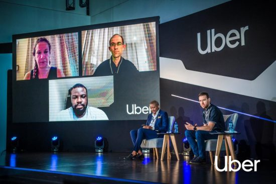Photo supplied. Redi Tlhabi emceed Uber's Tech for Safety Summit