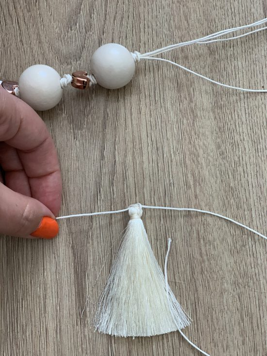 DIY Beaded Garland by Nikita Camacho Lifestyle and mommy blogger
